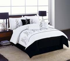 black and white comforter set size