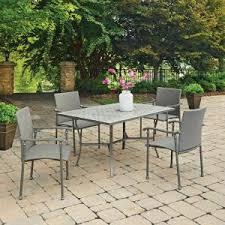 umbria 5 piece concrete outdoor dining set