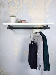 wall clothes rack with shelf off 55