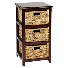 storage unit office. seabrook threetier storage unit with espresso finish and natural baskets office star