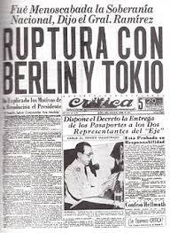 during world war ii   during world war ii ruptura de relaciones con el eje jpg
