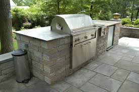 concrete block outdoor grill by cst pavers and versa lok wall block