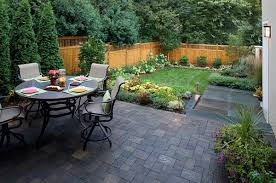Small Backyard Landscaping Ideas With Small Patio And Dining Table Landscape Design Backyard Ideas