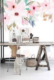 Peel and Stick Wallpaper Floral Mural ...