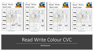 I also created a free phonics ebook series available for download as well. Free Read Write Colour Cvc Phonics Worksheets Making English Fun