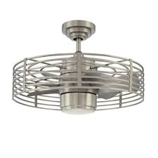 flush mount caged ceiling fan. Designers Choice Collection Enclave 23 In. Satin Nickel Ceiling Fan Flush Mount Caged F