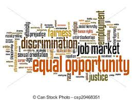 Equal Opportunity Issues And Concepts Word Cloud Illustration Word