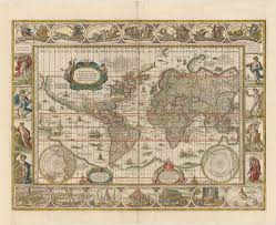sea monster world map. Exellent Monster 1635 World Map Valued Above 20000 Is The Star Lot At Old Auctions And Sea Monster E