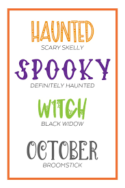 The scary font generator is a great way to create spooky text which would be more fun to use especially on occasions such as halloween or for themed parties as well. Best Halloween Fonts For Crafts And Printables Pineapple Paper Co