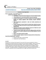 Customer Care Specialist Resume