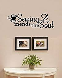 sewing mends the soul vinyl wall art decal sticker on alabama vinyl wall art with amazon home sweet home alabama state vinyl wall art decal