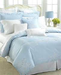 full image for court of versailles dejeuner light blue embroidered queen duvet cover new light blue