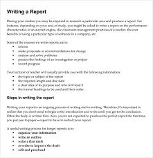Sample Report Writing Format       Free Documents in PDF