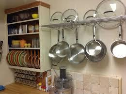 ikea pot and pan rack kitchen wall