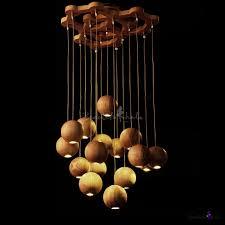 round canopy hanging wooden large designer pendant light beautifulhalo com