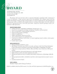 Resume Cover Letter Paralegal Paralegal Cover Letter Paralegal