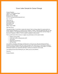 14 Sample Cover Letter Career Change Dtn Info