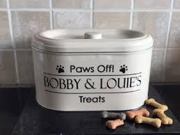 personalised dog treat tin