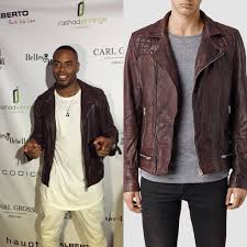 style nfl rashad jennings all saints conroy leather biker jacket