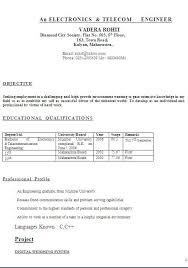 Short Resume Format