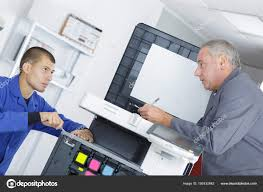 Printer Technician Electronic And Printer Technician Stock Photo