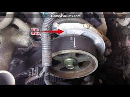 Changing a Timing Belt   YouTube moreover  likewise  besides I need a timing belt diagram for a 2000 camry 2 2 dohc  anyone also I replaced a broken timing belt on a 99 camry w 2 2 engine  No also  likewise SOLVED  Timing belt  need timing marks  1989 toyota camry   Fixya further Repair Guides   Engine Mechanical   Timing Belt Cover And Seal further Timing Belt R R  v2  for Toyota Camry 1997 2001  Gen 4 likewise  furthermore . on 2000 toyota camry timing belt repment