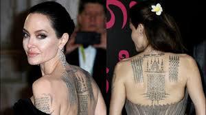 11 татуировок анджелины джоли о значениях которых вы и не догадывались