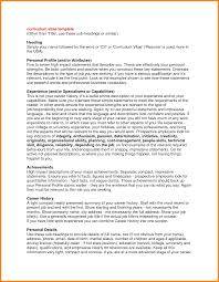 Resume Examples Profile Section New Profile For A Resume Examples
