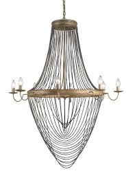 beautiful and glamour lucien 8 light chandelier in french gold leaf antique wash silver 9412 by dining currey lighting