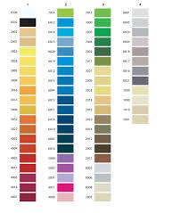 Isafil Online Color Chart