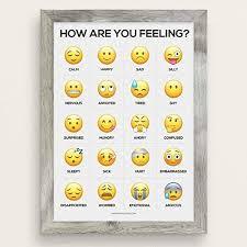Feelings Chart Emoji Amazon Com How Are You Feeling Emoji Feelings Chart Therapy
