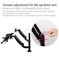 com loctek 2 in 1 full motion gas spring dual monitor arm desk mounts for laptop monitor d5dl computers accessories