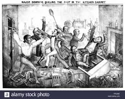 Kitchen Cabinet Andrew Jackson Andrew Jackson Cartoon Nmajor Downing Queling The Riot In The