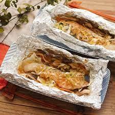 鮭 の ホイル 焼き オーブン