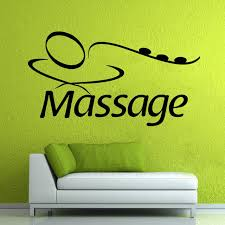 spa wall vinyl decal massage sign
