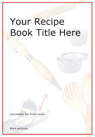 recipe book cover template downloads pictures front cover design template