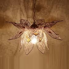 modern golden wire lotus dining room pendant lamp suspension hanging light bedroom balcony corridor embedded pendant lamp in pendant lights from lights