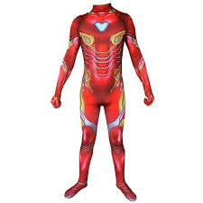 Marvel Iron Man Avengers 4 Endgame Tony Stark Jumpsuit Adult Cosplay Costume
