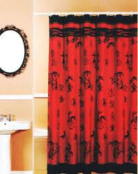 oriental shower curtain bamboo oriental red black fabric shower curtain popular bath black shower curtains oriental