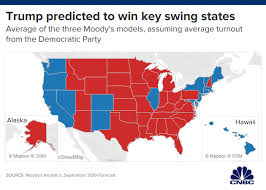 2016 Presidential Election Results Chart Moodys Trump On His Way To An Easy 2020 Win If Economy