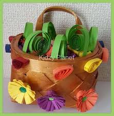 Paper Quilling Rose Flower Basket Paper Quilling Flowers Basket Kidzy Planet