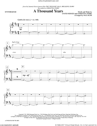 A Thousand Years Sheet Music Huff A Thousand Years Arr Mac Huff Complete Set Of Parts Sheet Music For Orchestra Band