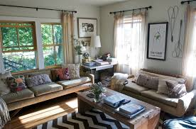 simple brown living room ideas. Farmhouse Living Room Decorating With Simple Brown Sofa And Wooden Table Ideas I