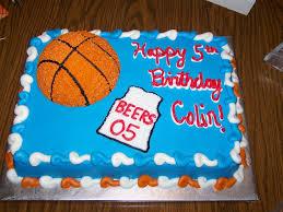 basketball birthday cakes