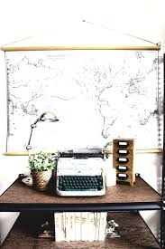 inexpensive diy wall decor ideas so many great bless er house vintage pull down map of