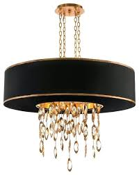 gold chandelier light regency black single gold crystal waterfall pendant rose gold ceiling light chandelier