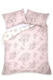 next dusky pink bedding reversible double duvet cover no pillowcase new