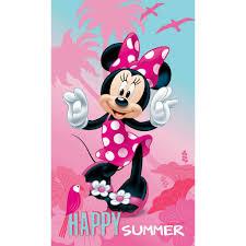 Disney Minnie Mouse Happy Beach Towel 70 X 120 Cm Pink