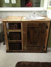 making bathroom cabinets: bathroom vanity made from pallets love this idea such a beautiful vanity