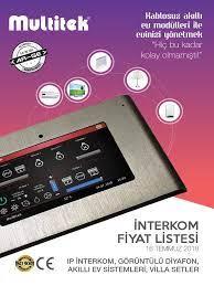 Multitek Interkom Fiyat Listesi 16 Temmuz 2018v1